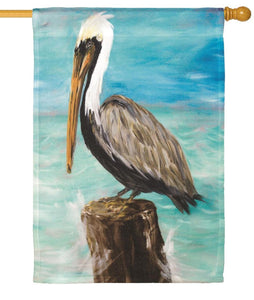Pelican on a Post House Flag