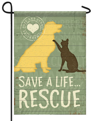 Pet Rescue Garden Flag