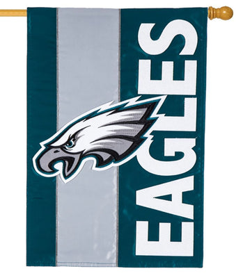 Philadelphia Eagles Embellished Applique House Flag