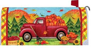 Pickup Truck and Fall Pumpkins Mailbox Cover - Mailbox Covers/Fall Winter - I AmEricas Flags