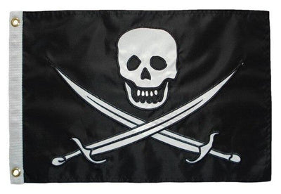 Pirate Calico Jack Applique Boat Flag