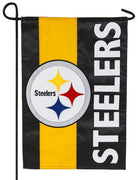 Pittsburg Steelers Embellished Applique Garden Flag