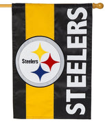 Pittsburg Steelers Embellished Applique House Flag
