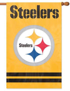 Pittsburgh Steelers Gold Applique House Flag