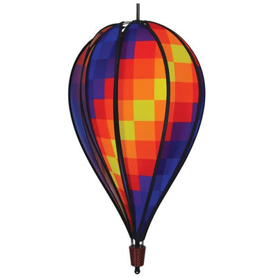 Rainbow Pixel Hot Air Balloon Spinner