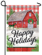 Plaid Holiday Farm Garden Flag