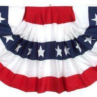 2 Ply Polyester Pleated Fan Bunting 27x54 - Patriotic Decorations/Patriotic Bunting - I AmEricas Flags