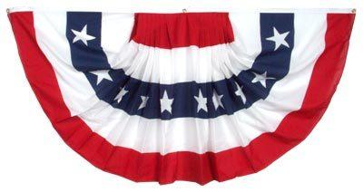 2 Ply Polyester Pleated Fan Bunting 27x54