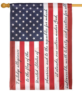 Pledge of Allegiance House Flag