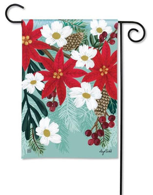 Poinsettia Bloom Garden Flag