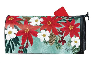 Poinsettia Bloom Mailbox Cover