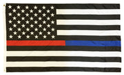Police and Firefighter Black and White American Flag 3x5