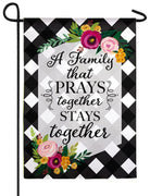 Pray Together Suede Reflections Garden Flag