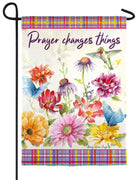 Prayer Changes Things Suede Reflections Garden Flag