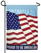 Proud To Be American Double Applique Garden Flag