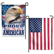 Proud to be an American 2 Sided Garden Flag