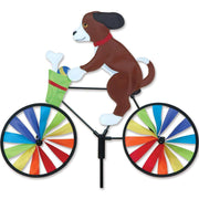 Puppy Bicycle Wind Spinner