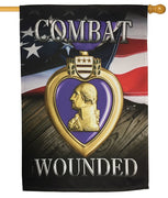 Purple Heart Sublimated House Flag