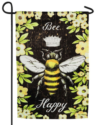 Queen Bee Suede Reflections Garden Flag