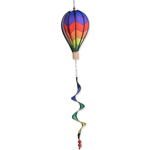 Rainbow Chevron Small Hot Air Balloon With Tail Spinner
