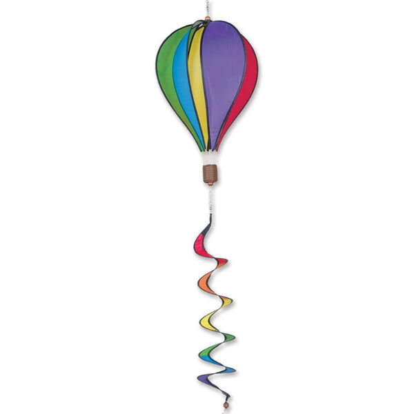 Rainbow Hot Air Balloon With Tail Spinner