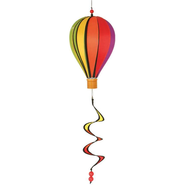 Rainbow Small Hot Air Balloon With Tail Spinner