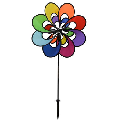 Rainbow Spectrum Double Flower Spinner