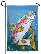 Rainbow Trout Double Applique Garden Flag