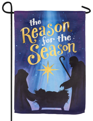 Reason for the Season Embellished Suede Garden Flag