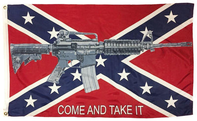 Rebel Come and Take it M4 Assault Rifle 3x5 Flag