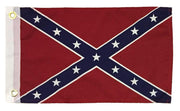 Rebel Confederate Battle 12x18 Printed Polyester Boat Flag