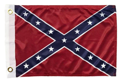 Rebel Confederate Battle 12x18 Superknit Polyester Boat Flag