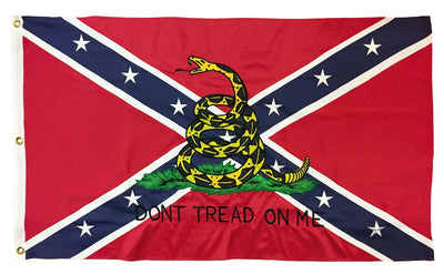 Rebel Don't Tread On Me 3x5 Flag 2-Ply Polyester