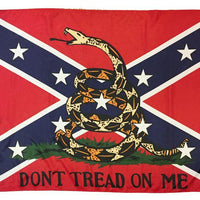 Rebel Don't Tread On Me 3x5 Flag
