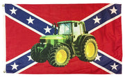Rebel Green Tractor 3x5 Flag