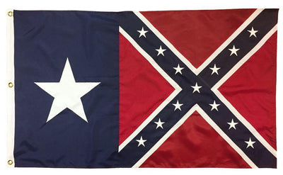 Rebel Texas Star Battle Flag 3x5 2-Ply Polyester