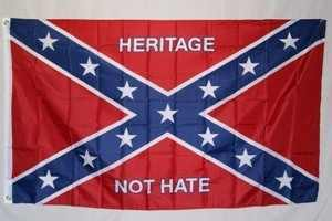 Rebel Heritage Not Hate 3x5 Flag