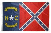 Rebel North Carolina 3x5 Battle Flag
