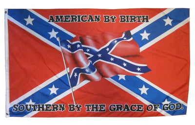 Rebel Southern by the Grace of God 3x5 Flag
