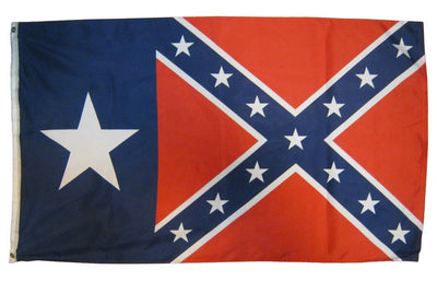 Rebel Texas Star 3x5 Battle Flag