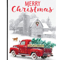 Red Truck and Christmas Tree Garden Flag