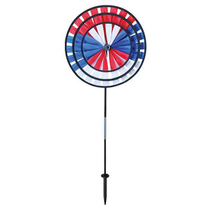Red, White & Blue Triple Wind Spinner