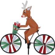 Reindeer Bicycle Wind Spinner