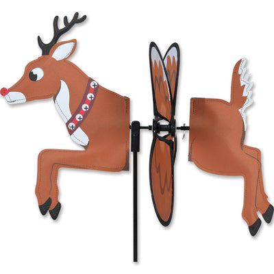 Reindeer Flying Petite Wind Spinner