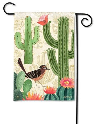 Road Runner and Cactus Garden Flag