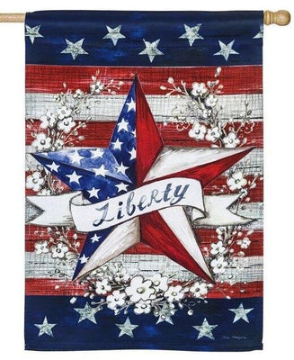 Rustic Liberty Star Suede Reflections House Flag