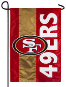 San Francisco 49ers Embellished Applique Garden Flag