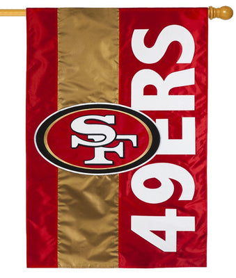 San Francisco 49ers Embellished Applique House Flag