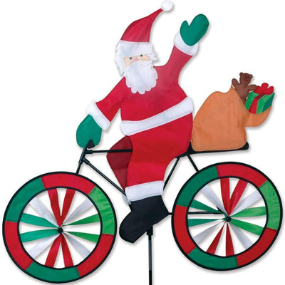 Santa Claus Large Bicycle Wind Spinner