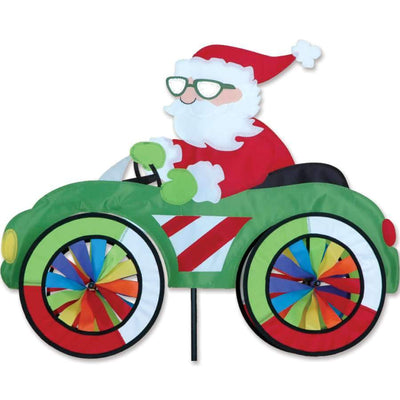 Santa Claus in a Car Wind Spinner